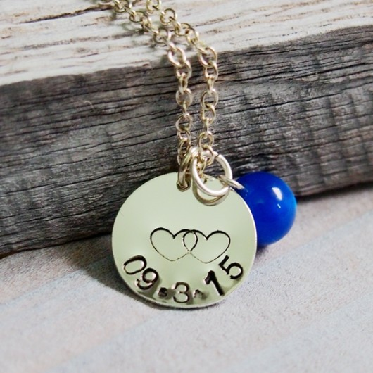 memory-necklace-blue-bead