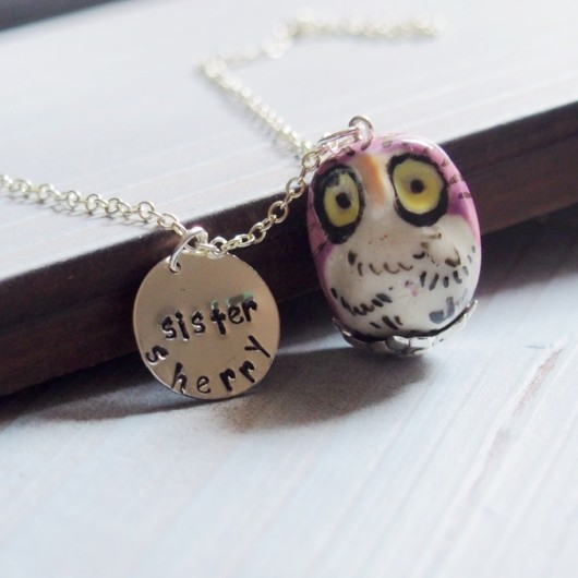 painting-owl-necklace-for-sister