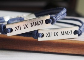 roman-number-bracelet-couples-bracelet