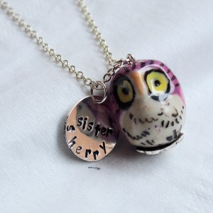 sister-necklace-hand-painted-owl-necklace