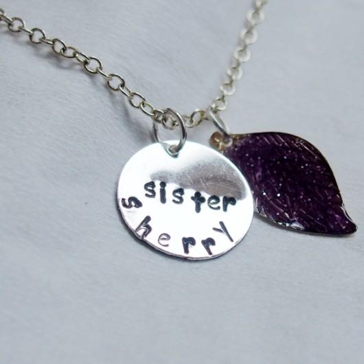 sister-necklace-leaf-necklace