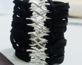 wholesale-infinity-bracelets-black-silver