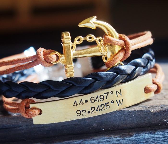 gold-mens-bracelet-coodinate-bracelet-gps-bracelet