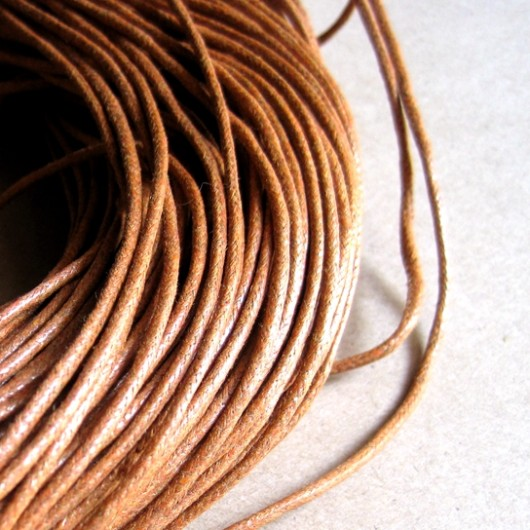 light brown wax cord 2mm