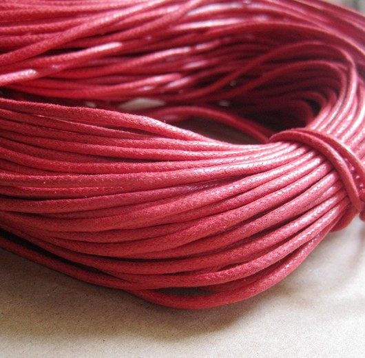 wax cord 2mm red