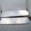 wedding date necklace roman numeral necklace