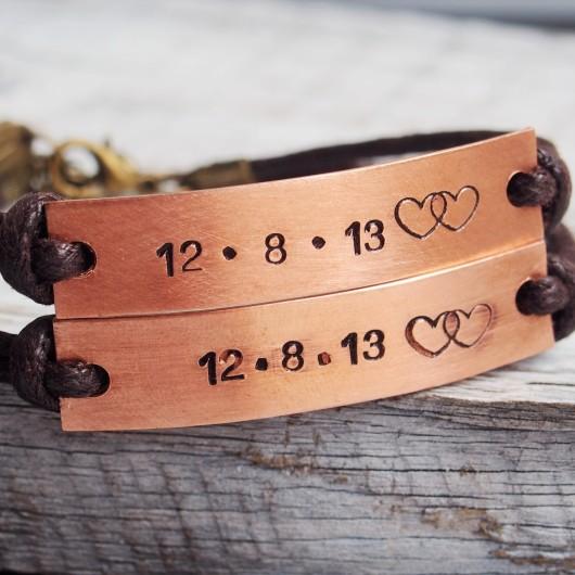 Engraved-couples-bracelets-copper