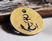 Pierced-vintage-anchor-charms-pendant-wholesale