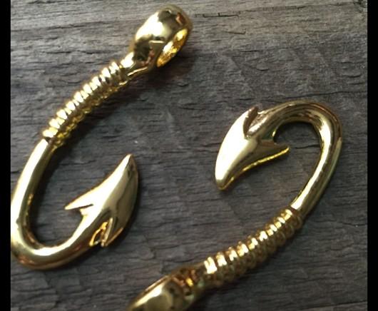 The love bracelet eiffel tower handmade bracelet rose for Gold fish hook pendant