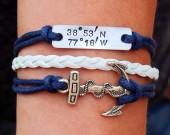 silver coordinate bracelet