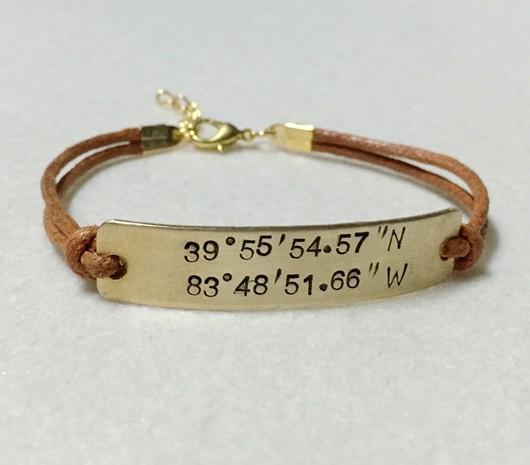 gold coordinates bracelet