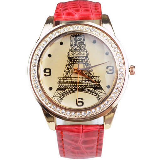 eiffel tower watch diamond red1