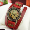 eiffel tower wrap bracelet watch red