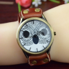 owl charm watch coffee