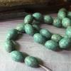 Olive shape turquoise beads wholesale