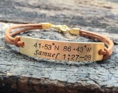 Coordinates bracelet, bible verse bracelet