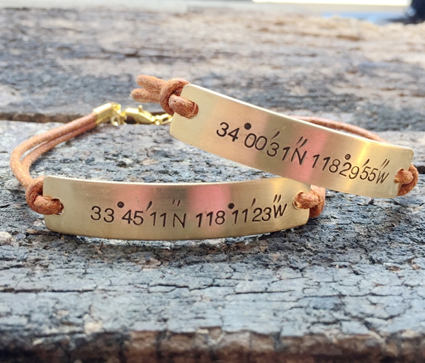 Couples Bracelet Coordinates Bracelet Couples Coordiantes Bracelet