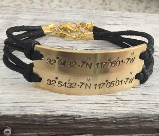 couples bracelet coordinates