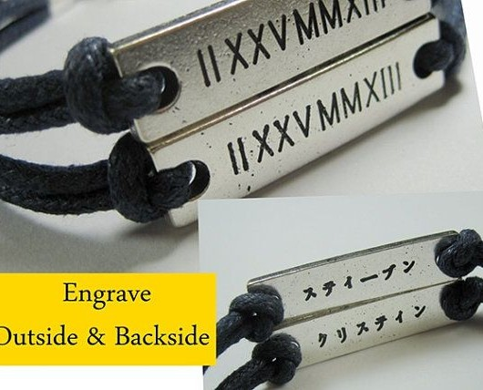 Silver roman numerals bracelet
