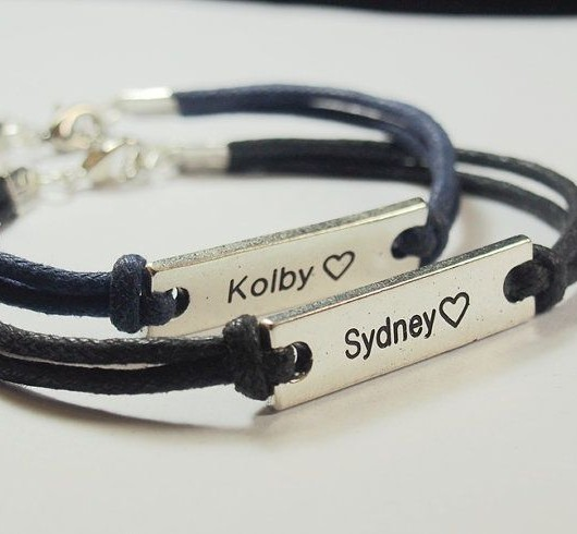 couples name bracelets