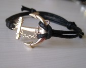 gold anchor bracelet for boys
