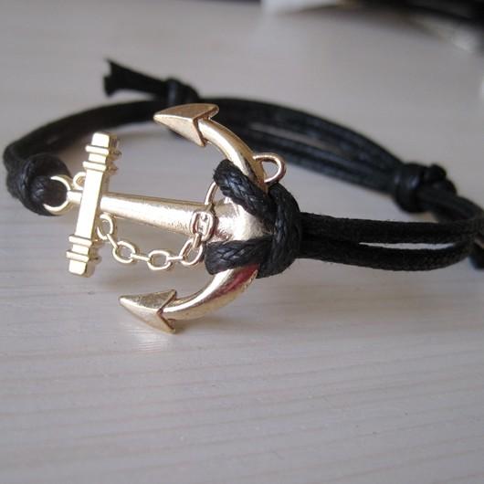 gold anchor bracelet for boys