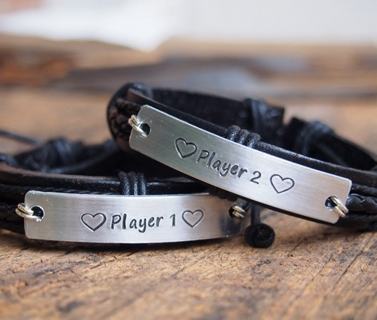 Couples id bracelets