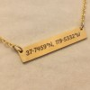 Coordinates necklace, Custom Coordinates necklace, Personalized coordinates necklace, GPS coordinates necklace,Coordinates jewelry, Personalized Bar necklace, gold bar necklace, Personalized bar necklace, custom necklace