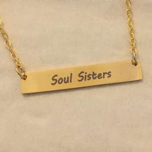 Soul sister necklace, sister gift for sister, Personalized Bar necklace, gold bar necklace, name necklace, Personalized bar necklace, custom necklace