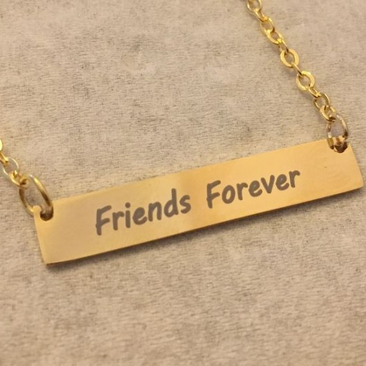 Friends forever necklace, Best friend necklace, best friend gift, Personalized Bar necklace, gold bar necklace, name necklace, Personalized bar necklace, custom necklace