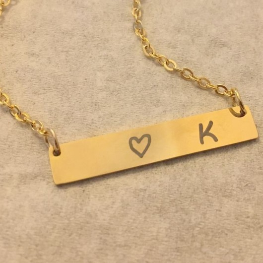 bar necklace, name necklace, personalized bar necklace gold