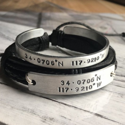 Custom couples bracelets