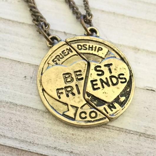 Best friends necklace, best friends gift, gift for best friends, Couples set necklace for best friends