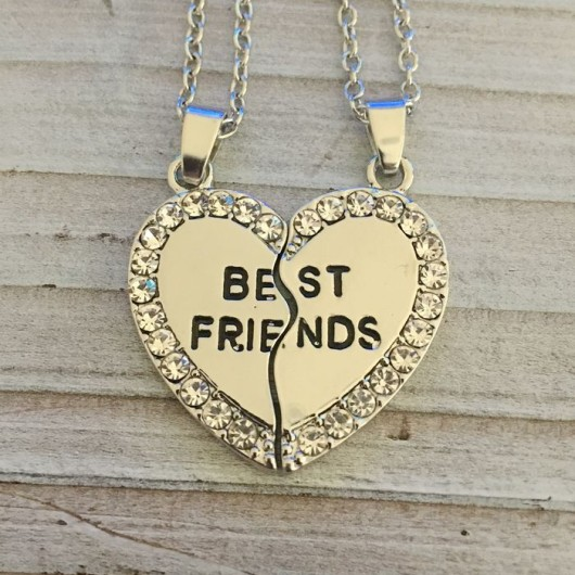 Broken heart necklace for best friends gift, couples set necklace, couples set gift