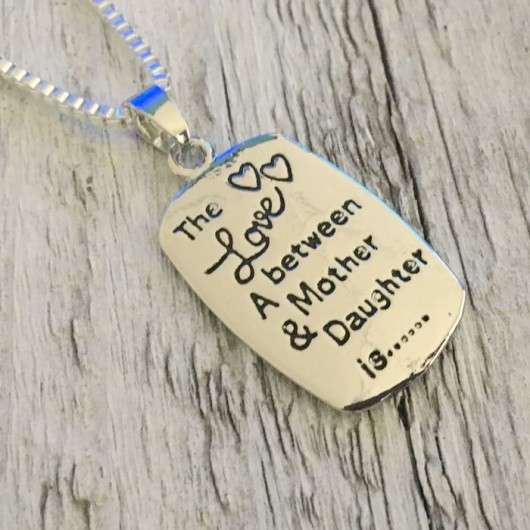 Mother daughter necklace set, gift for mother, mother daughter gift, mother daughter necklace
