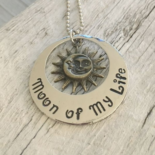 Sun, moon necklace, I love you to the moon and back necklace, gift for women, mom jewelry, girlfriend jewelry