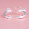 couples fish ring silver