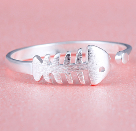 Fish ring, sterling silver fish ring, fish ring for women, girlfriend gift, ring for girlfriend, ring for sister
