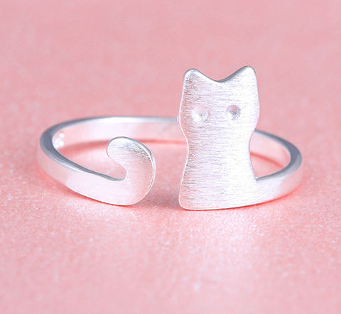 Mystery cat ring, sterling silver cat ring, silver cat ring, personalized gift for her, ring for girlfriend