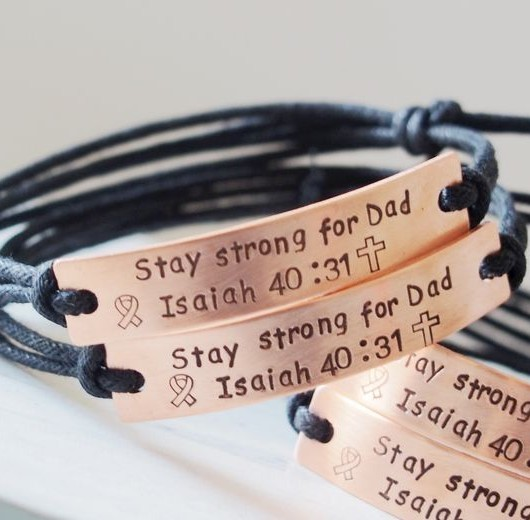 Personalized Bible bracelets, Bible verse bracelets, couples bracelets, anniversary gift for passed by dad