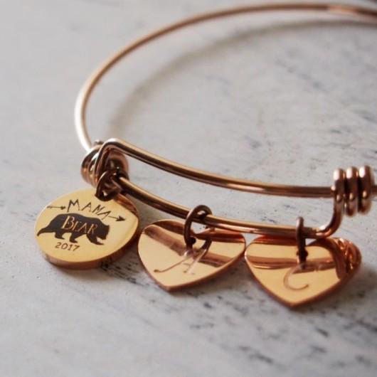 Mama Bear bracelet, 2017 newest gift idea for mom, new mom gift, MAMA BEAR JEWELRY, Turntopretty