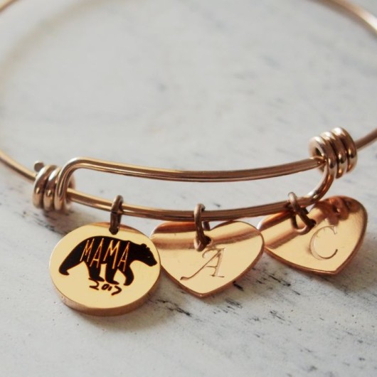 Mothers day Gift, mama bear bracelet, mama bear gift, mama bear jewelry, mother's day gift