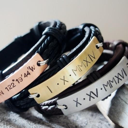 Roman numeral bracelets for men, mens personalized roman numeral bracelets, anniversary date bracelets for boyfriend gift
