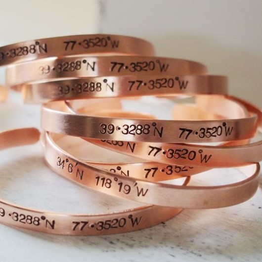 Personalized coordinates bracelet, rose gold coordinate bracelet, engraved cuffs for girls bulk buy, turntopretty