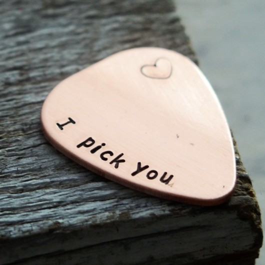 I pick you guitar pick, BEST SELLER on ETSY, Gift for boyfriend, gift for husband, mens gift personalized