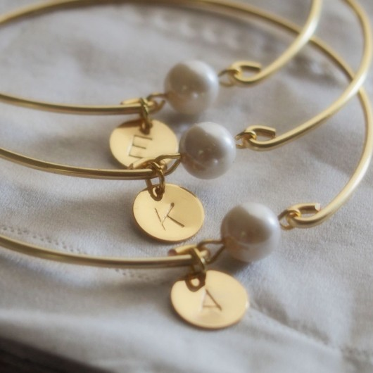 Bridesmaid pearl jewelry sets, bridesmaid jewelry cheap, initial, pearl jewelry sets for bridesmaid, gold