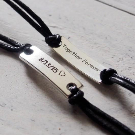 Anniversary gift for him, anniversary gift for boyfriend, forever love backside engrave bracelet