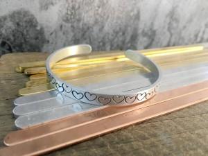 "30pcs--1/4"" x 6"" Blank bracelet cuff materials to making personalized bangle cuffs wholesale craft supplies"