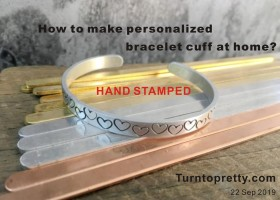 how to make hand stamped metal cuff at home