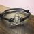 Celtic Charm Bracelet, Real leather Bracelet, Adjustable band, Handmade charm bracelet silver, turntopretty